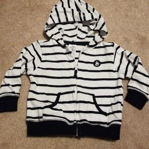 Carter's striped hoodie. Size 9 months